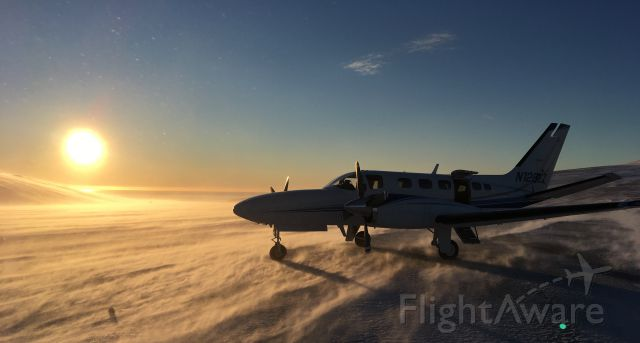 Cessna Conquest 2 (SVX45) - Taken by Jeff McMillan at Cape Romanzof LRRS (CZF) looking wsw. 2018 Jan 8th blowing snow