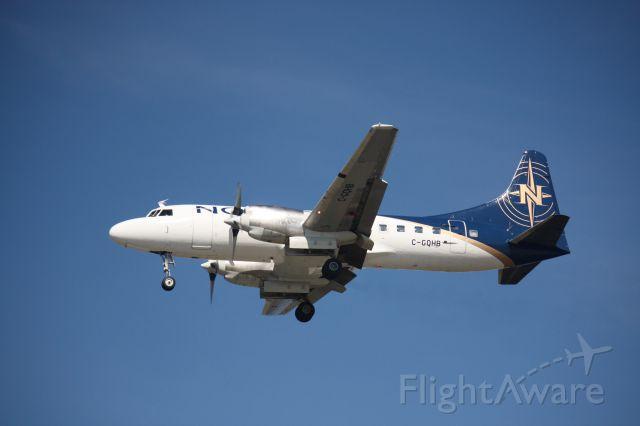 CONVAIR CV-580 (C-GQHB) - Landing to MeadowBank