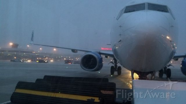 Boeing 737-800 — - towing to infield cargo