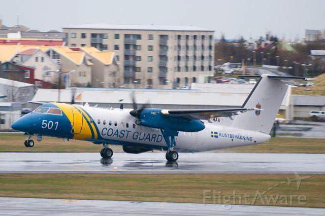 SE-MAA — - Swedish Coast Guard DHC-8-Q300 SE-MAA/501 at Reykjavik