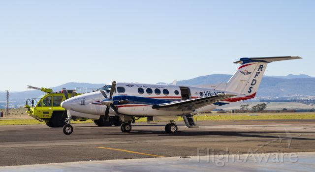 Beechcraft Super King Air 200 (VH-MSZ) - Royal Flying Doctors Beechcraft King Air 200B preparing for a departure out of Launceston