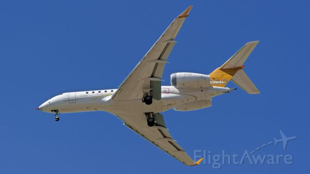 Bombardier Global 5000 (C-GERS) - A Brand new Bombardier Global 5000 landing at Wichita after a test flight.
