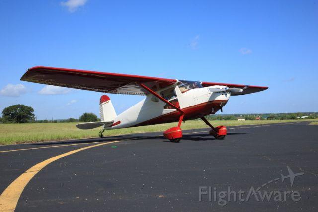 Cessna 140 (N140LA) - On the ramp in Breckenridge, Texas...
