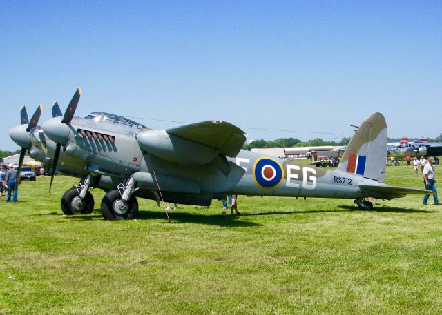 De Havilland Mosquito (N35MK) - At AirVenture 2016.