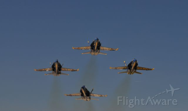 — — - Blue Angles sliding into the Diamond after takeoff