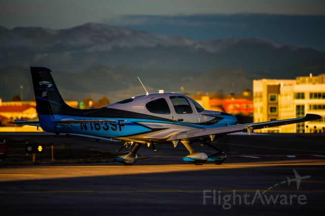 Cirrus SR-22 (N183SF) - Sunrise in Colorado. Sometimes you need just a sliver of light. N183SF's first upload in the database.<br /><br />©Bo Ryan Photography | IG: BoRyanFlies