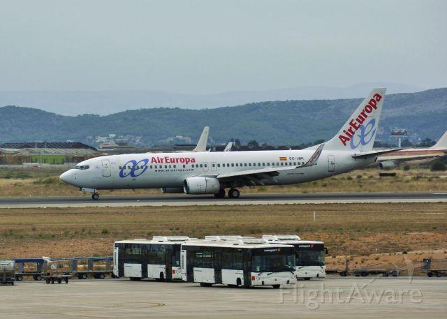 Boeing 737-800 (EC-JBK) - Air Europa Boeing 737-85P(WL) EC-JBK in Valencia