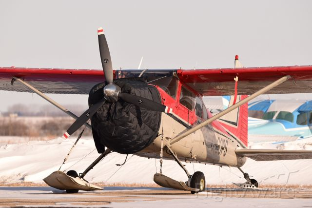 C-GOPS — - This 1968 Cessna A185E Skywagon parked at Yorkton. Wish i could have got a photo of it coming or going. O well, Ill take what I get.