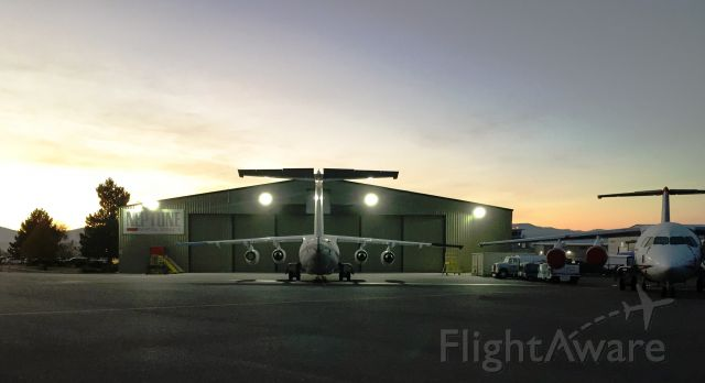 — — - Early morning at Neptune Aviation @ KMSO