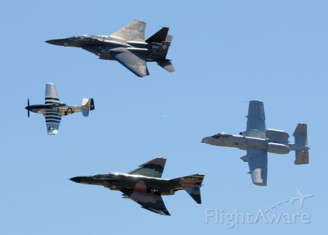 — — - Heritage Flight - Seymour Johnson AFB Wings Over Wayne April 17, 2011