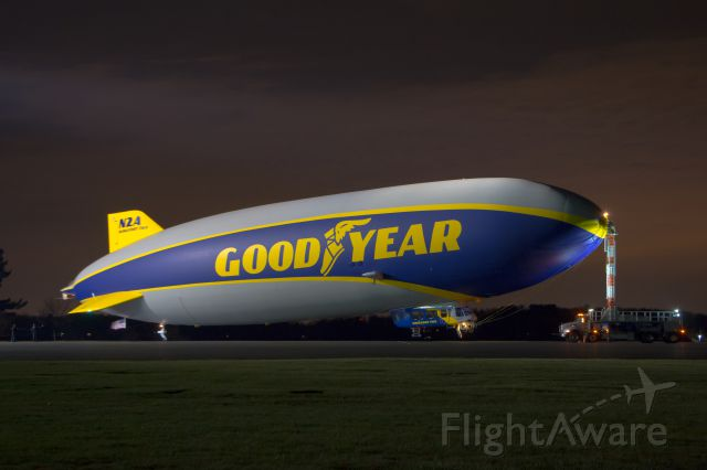 Unknown/Generic Airship (N2A) - N2A on the pad before going into the hangar for the night.