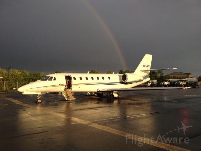 Cessna Citation Sovereign (N617CS) - FIV617 - pot of gold in BNA.