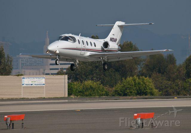 Beechcraft Beechjet (N101AR) - Landing RWY 21 in Santa Monica, CA.  Special thanks to T.H.