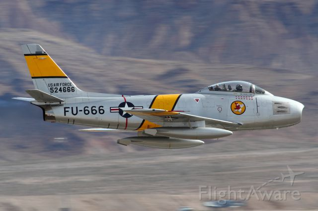 North American F-86 Sabre — - F-86 from The Horsemen Team at Nellis AFB 2012