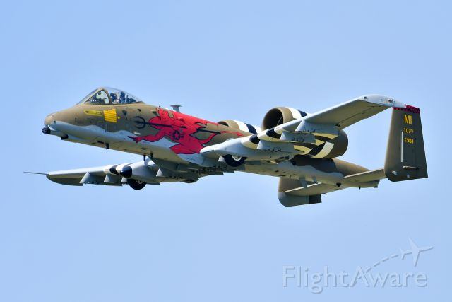 Fairchild-Republic Thunderbolt 2 (AFR81994) - A-10C from the 107th Fighter Squadron with 100 year anniversary colors at Selfridge ANG Base 100 year open house.