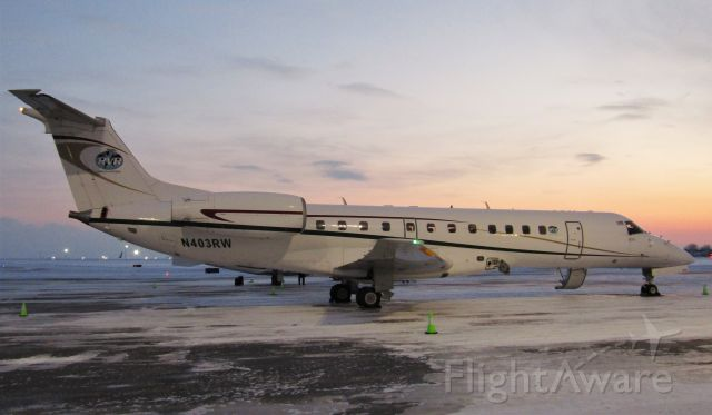 Embraer ERJ-135 (N403RW) - BEAUTIFUL sunset view of a RVR Air Charters E135 at BUF!!!!!!!!!!!!!!!!!!!!!!!!!! Formerly operated by American Eagle. This has GOT TO BE on of my FAVORITE shots!!!!