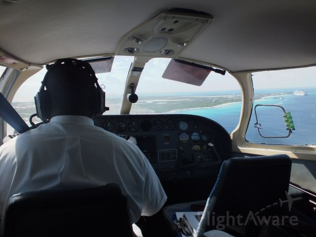 Cessna 402 (VQ-TRF) - caicos express on approach to the beautiful island of grand turk..