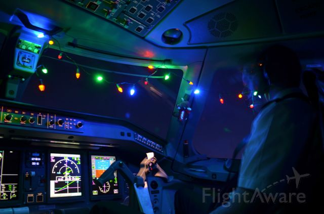 Embraer 170/175 (N122SY) - Merry Christmas from the flight deck!