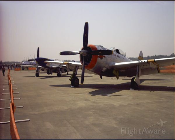 N9246B — - The famous P-47 Hun Hunter at the 2003 Tupelo Air Show.