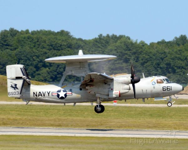 Grumman E-2 Hawkeye (16-6503) - Hawkeye 01 E-2C from VAW-120 NAS Norfolk chambers field