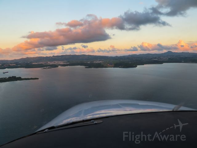Cessna Skylane (N1967X) - Sunset landing at TFFF (Martinique)