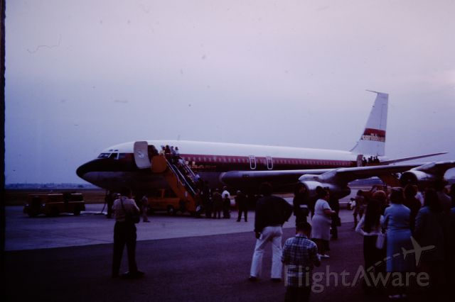 UNKNOWN — - June/July 1971, taking a charter flight from Niagara Falls to Gatwick with a Gas-N-Go stop at Gander.   I was 14 at the time and have been told Donaldson Airlines was involved, but the Aircraft clearly says Carribean. BUT, the paint Job Screams Freddie Laker - compare with Boeing 707-100 (G-AVZZ) by Peter Scharkowski<br /><br />the pic is a scan of a slide so I might be able to drag out more detail...