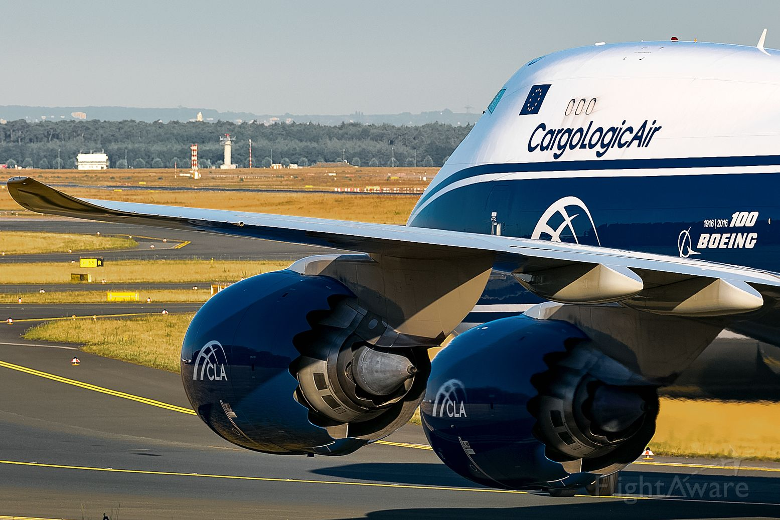 BOEING 747-8 (G-CLAB) - 2 big, working engines