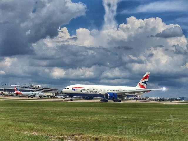 Boeing 777-200 — - British Airways arriving at TPA.