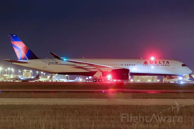 Airbus A350-900 (N501DN) - Arriving KATL on delivery flight