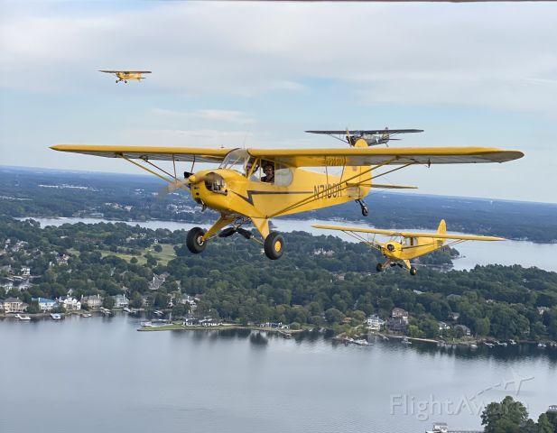 Piper NE Cub (N7100H) - Over Lake Norman Charlotte, NC Sep. 23, 2020