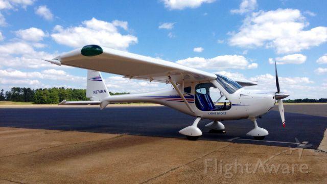 N274RA — - Remos G-3/600 light sport on the ramp at Texarkana Flying Club.