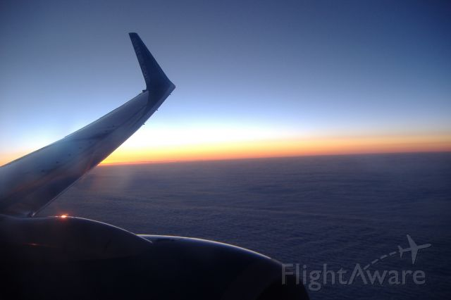 Boeing 737-700 — - Sunset over Maryland on an Airtran 737-700 MCO-BOS