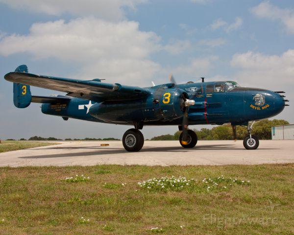 N9643C — - PBJ-1J (B-25) Devil Dog ready for take off.