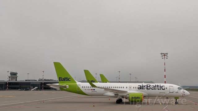 Airbus A220-300 (YS-CSA) - On a Covid break