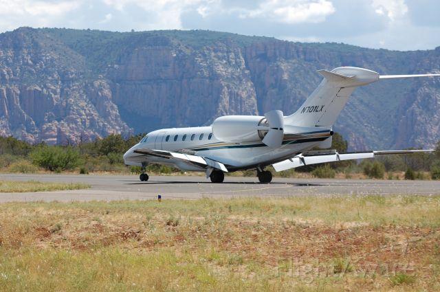 Cessna Citation X (N701LX) - Arrival Runway 3, KSEZ, Sedona, AZ