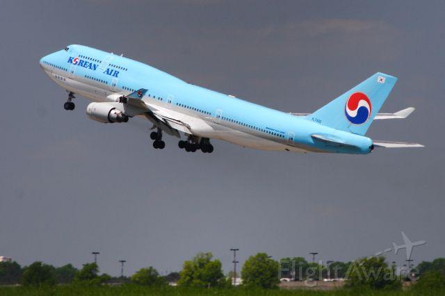 Boeing 747-400 (KAL67) - KAL67 departs for Incheon