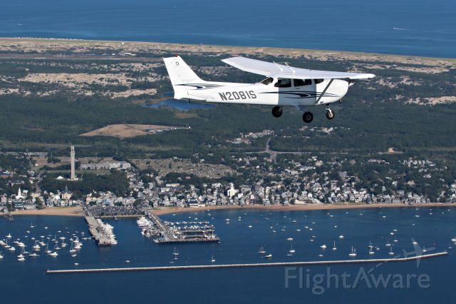 Cessna Skyhawk (N2081S) - Whale Watch Flying near Provincetown, MA on the tip of Cape Cod.