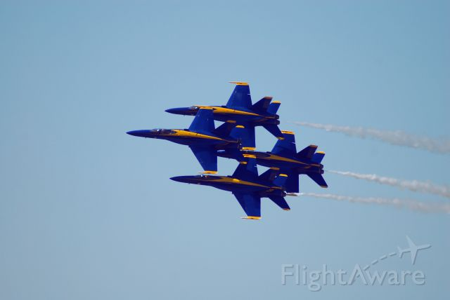 McDonnell Douglas FA-18 Hornet — - Blue Angels diamond formation.