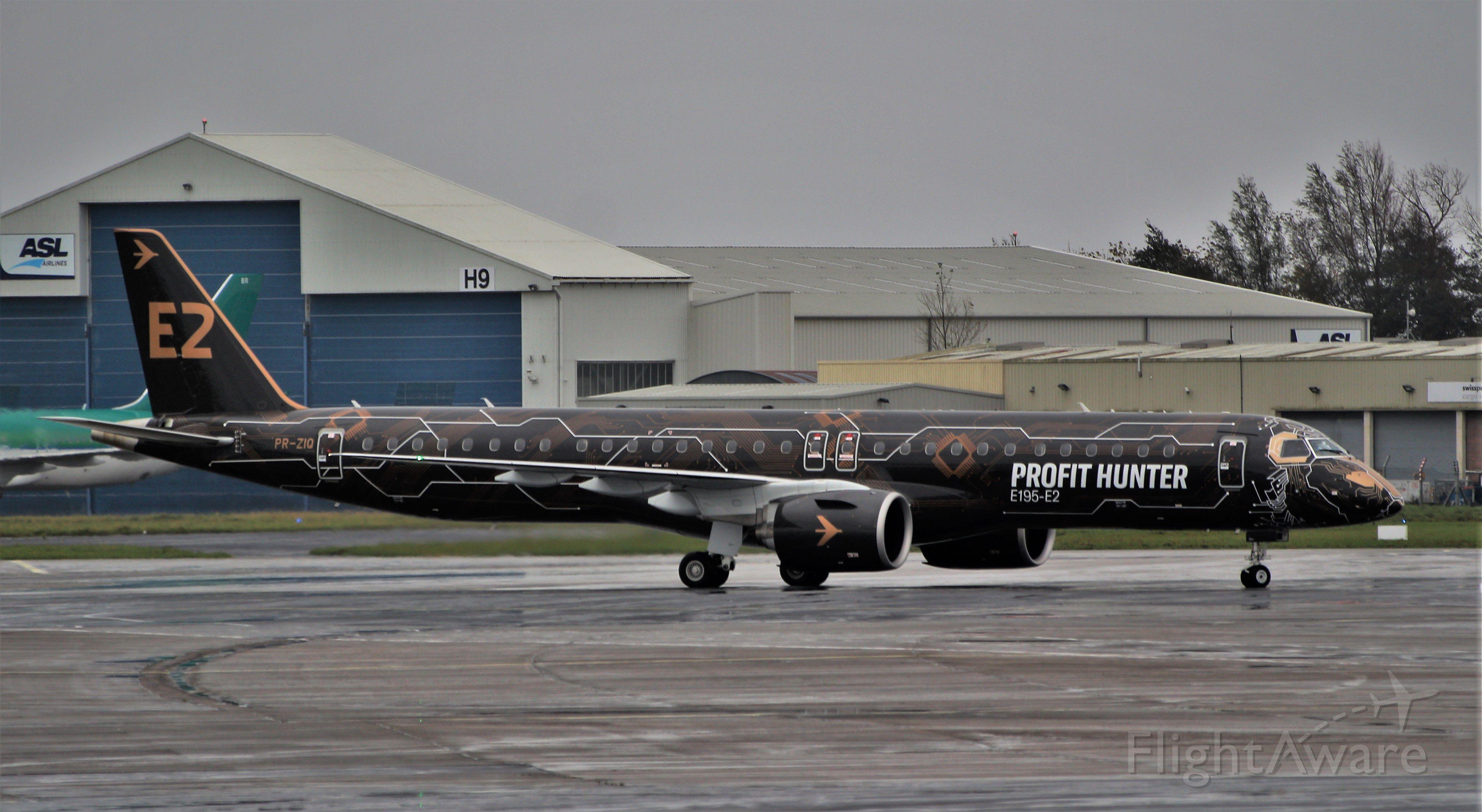Embraer ERJ-190 (PR-ZIQ) - profit hunter erj-195-e2 pr-ziq arriving in shannon for a few days for demonstration tours 6/11/19.