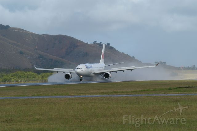 Airbus A330-200 — - arrival airport  int Noumea New Caledonia NWWW