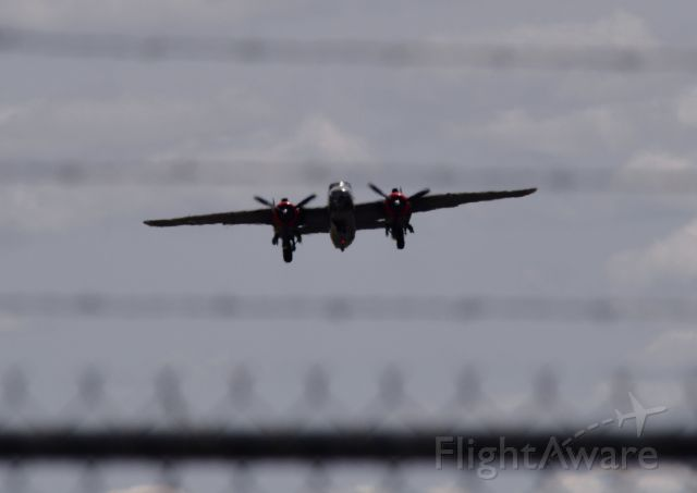 — — - B-25 Mitchell.