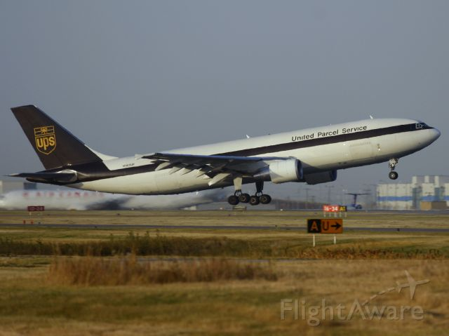 Airbus A300F4-600 (N142UP) - Rotating off Rwy 10 at Calgary in the late afternoon sun