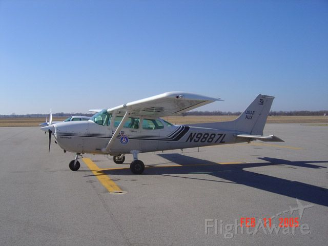 Cessna Skyhawk (N9887L) - Civil Air Patrol C172 at Robinson Municipal Airport.