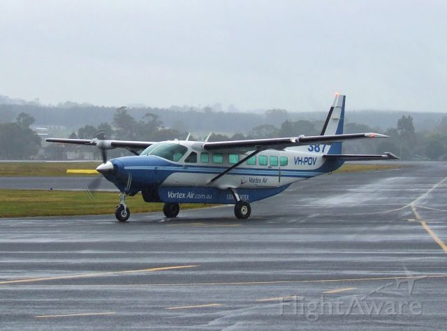Cessna Caravan (VH-POV) - Vortex Air Cessna 208B Grand Caravan VH-POV at Burnie-Wynyard Airport Tasmania, Australia. April 21, 2016.