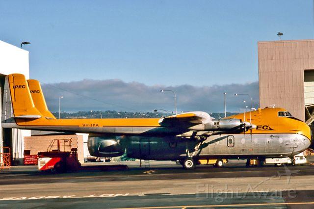 VH-IPA — - IPEC AVIATION - ARMSTRONG WHITWORTH AW-650 ARGOSY 222 - REG : VH-IPA (CN 6803) - ADELAIDE INTERNATIONAL AIRPORT SA. AUSTRALIA - YPAD 12/2/1989