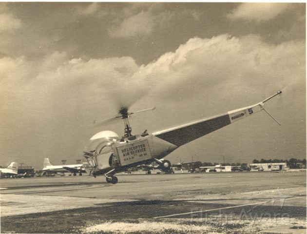 — — - Unknown type of helicopter - early 1950s
