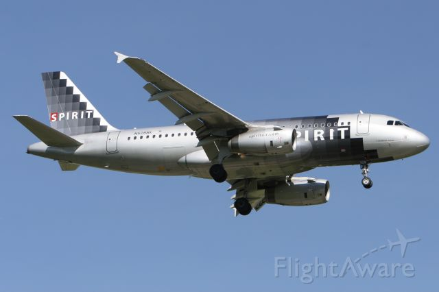 Airbus A319 (N528NK) - May 29, 2010 - arrived Detroit from Fort Lauderdale