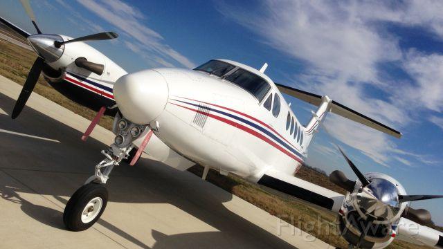 Beechcraft Super King Air 200 — - Taken with iPhone5 at HenriksenJetCenter