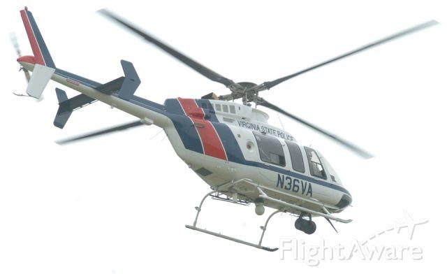 N36VA — - 2001 Bell 407   Virginia State Police flying over Danville Va....8-7-06...