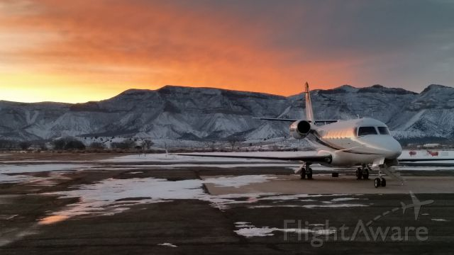 IAI Gulfstream G100 (N415BS) - Brisk morning in Cortez, CO waiting to reposition to Aspen. Just another day in paradise!